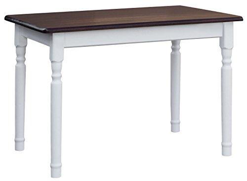 koma Esstisch 120x70cm Küchentisch Tisch MASSIV Kiefer Holz weiß Honig Landhausstil NEU (NUSS)
