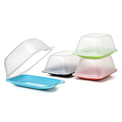 Tatay Porta Embutidos y Alimentos Fresh Quesera, Libre de BPA, Reutilizables, Apilables, Apto Lavavajillas y Microondas, Color Surtido, 1 unidad, Medidas 17 x 6 x 25 cm
