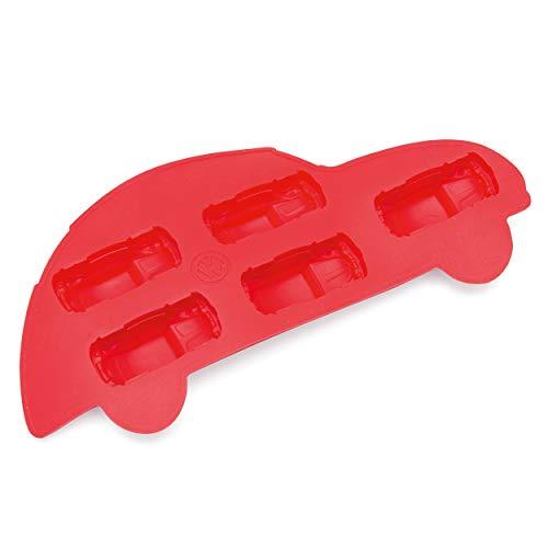 Board Masters VW Eiswürfelbehälter - Volkswagen-Käfer Beetle Rot- Eiswürfelform und Kochform - Flexibler Antihaft-Silikon - VW Käfer-Geschenk