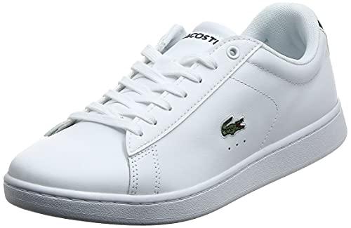 Lacoste Women's Carnaby EVO BL 1 Women's Fashion Shoes, White, 8 US