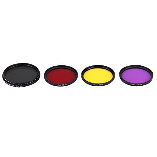 Diving Lens Filter Kit Liuwenjin JUNESTAR 4 in 1 Proffesionele 52mm Lens Filter(ND2-400 + Rood + Geel + FLD/Paars) voor GoPro HERO5 / 4s / 4/3+ / 3/2 & Xiaomi Xiaoyi Yi I/II 4K & SJCAM Sport A