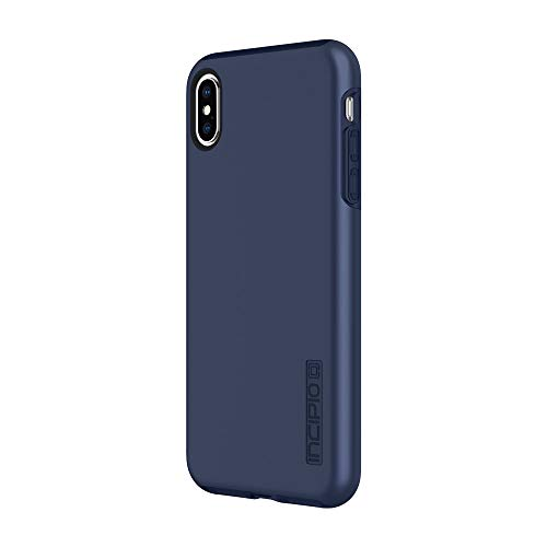 Incipio DualPro Dual Layer Case for iPhone Xs Max (6.5') with Hybrid Shock-Absorbing Drop Protection - Midnight Blue