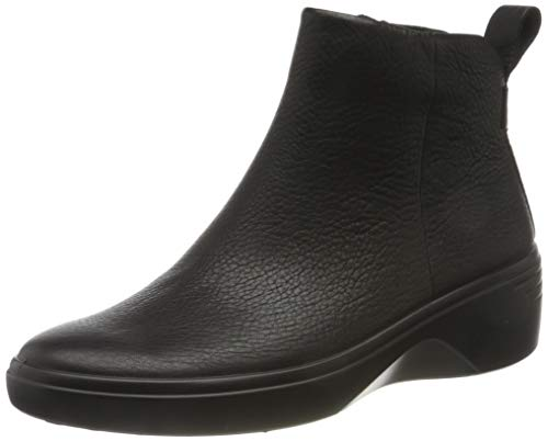 ECCO Damen Soft 7 Wedge W Ankle Boot, Schwarz (Black/Black), 38 EU