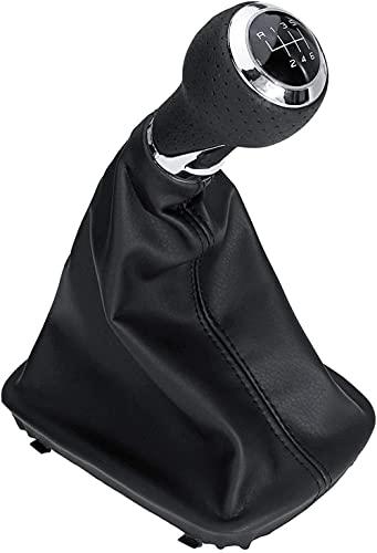 QXCHDC - Pomo de palanca de cambios de cuero para coche con funda de maletero de 6 velocidades, para A-UDI A3 S3 8p 2003-2013 A4 S4 B8 8K Q5