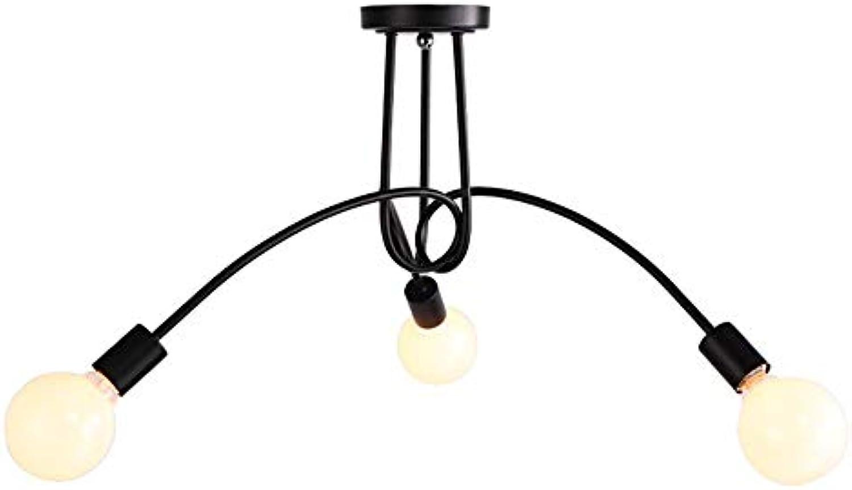 Minimalistische Deckenleuchte Pendelleuchte Kronleuchter Beleuchtung mit Eisensockel E27-Sockel Schwarz Wohnzimmer Esszimmer Schlafzimmer Balkon Flur Flurleuchten