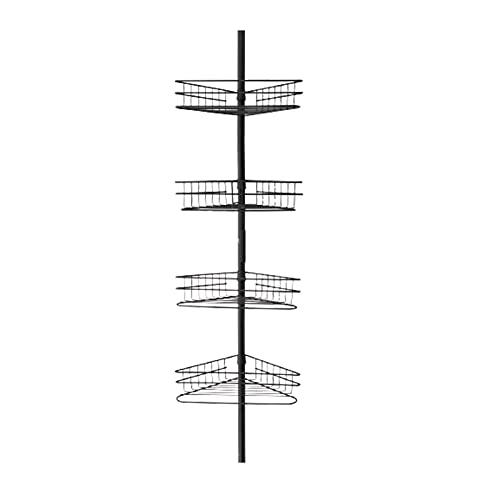 Shower Caddies Rack ad Angolo della Doccia a 4 Strati, Rack angolare del Bagno del Tipo, Rack di stoccaggio del Rack del Pavimento, Gratis Perforazione, Retrattile Regolabile