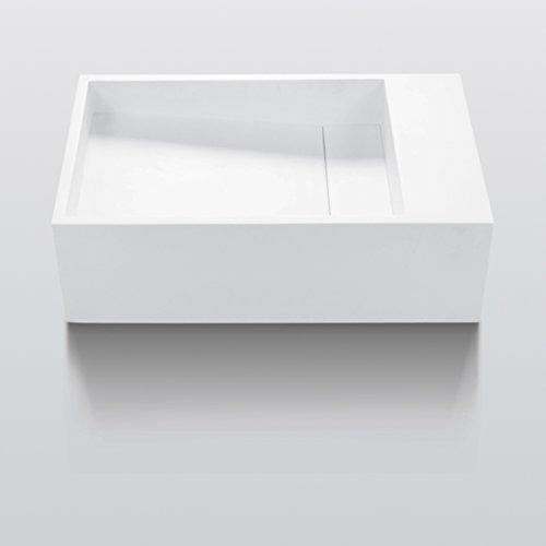 Waschtisch eckig Sylvin DX Aufsatzwaschtisch oder hängend in Solid Surface Staron