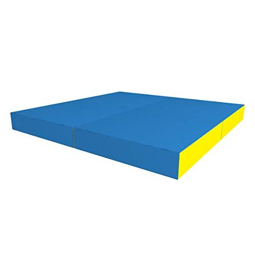 Idealfit klappbare Turnmatte Soft Shield Kid 100x100x6cm (blau)