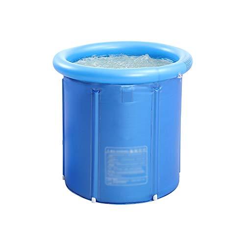 XINGZHE Aufblasbare Badewanne, tragbare Kunststoffbadewanne for Erwachsene, Babybecken, verdickte freistehende Faltbadewanne, runde Badewanne, blau Folding Badewanne (Size : S)