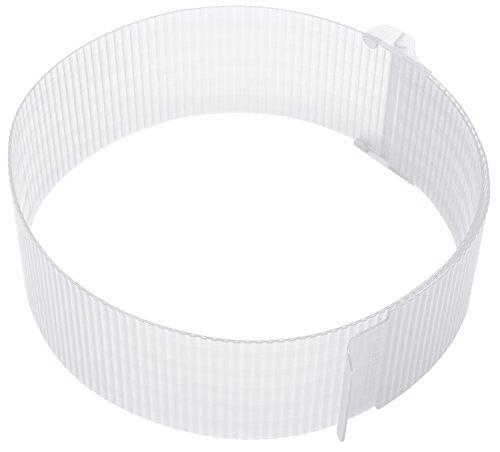 Zenker Tortenring Patisserie, flexibler Profi-Torten-Ring von Ø 15 - Ø 30 cm, verstellbarer Ring für ideale Schicht-Torten, Kuchenring einfach schließen und Öffnen, Menge: 1 Stück, Farbe: transparent