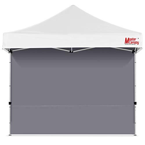 MasterCanopy Seitenteil/Seitenwand ohne Fenster für Pavillon 3x3M,Grau