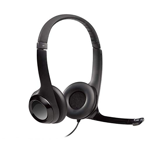 Logitech USB Headset H390 with Noise Cancelling Mic (Renewed)