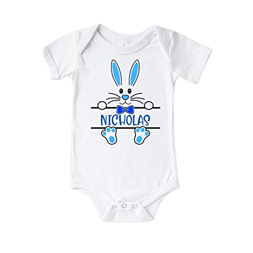 Easter Bunny Baby Boy Onesie. Personalized First easter Outfit for Boys. Easter Onesie Baby Boy Gift. Easter Cousin Crew Shirts. Matching Siblings Outfits, Twin Easter Clothes