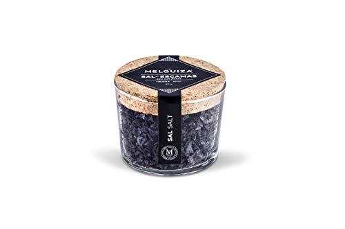 La Melguiza - Sal Marina en Escamas ideal como condimento para la cocina. (tinta de calamar)