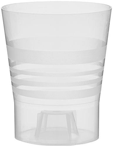 Plastkon Décoration Pot Orchidée Blanc Diamètre 11 cm