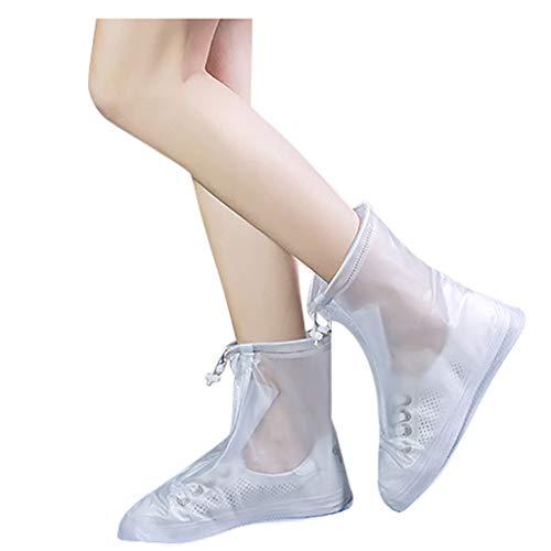 Wasserdichte Schuhe Stiefelabdeckung Reißverschluss Regen Schuhabdeckungen High-Top Anti-Rutsch-Schuhe Wasserdichte, staubdichte und antibakterielle rutschfeste Überschuhe für Herren und Damen