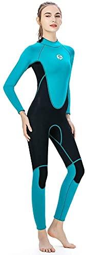 Samantha Traje de baño de Moda Traje de Neopreno de 3 mm de Mujer, Bote de Pescado Windsurf Toallitas de Traje de baño, Traje de Buceo para Mujer Surf Snorkeling (Size : S)