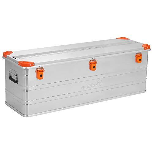 ALUBOX D163 Premium Aluminium Lagerbox Alukiste 163 Liter mit Stapelecken