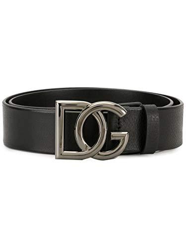 Luxury Fashion | Dolce E Gabbana Heren BC4401AV48080999 Zwart Leer Riemen | Lente-zomer 20