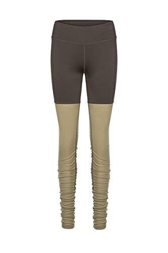 super.natural Damen Yoga-Hose, Mit Merinowolle, W MOTION HEAP TIGHTS, Größe: XS, Farbe: Khaki/Beige