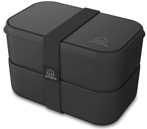 UMAMI Bento Lunch Box - 4 Cubiertos - Tupper Compartimentos Estilo Bento Box Japonés - Porta...