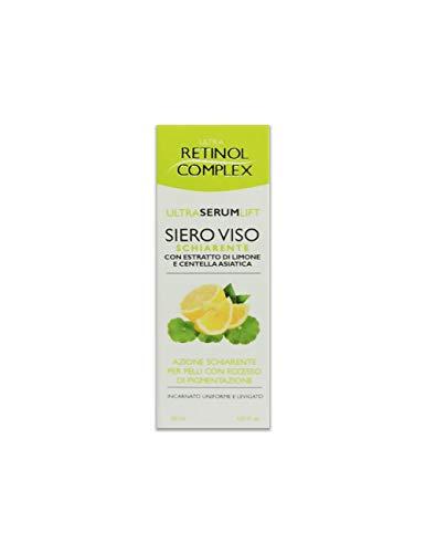 Sérum Facial con Vitamina C, Suero aclarador facial Ultra Serum Lift con extracto de limón y acción aclaradora de centella asiática para pieles con exceso de pigmentación 30ml