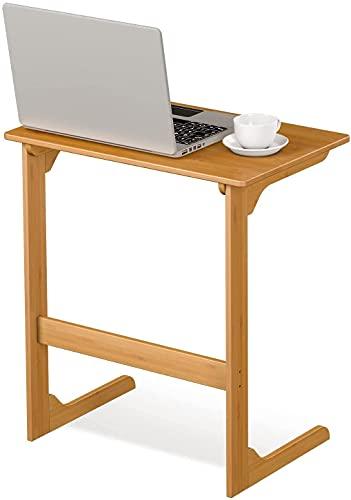 Pflegetisch für Bett Beistelltisch Couchtisch Sofatisch Kaffeetisch Betttisch Laptoptisch Laptopständer Tischplatte aus Bambus 55 x 38 x 62 cm (Bambus)
