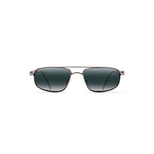 Maui Jim Sunglasses | Men's | Kahuna 162-02 | Gunmetal Rectangular Frame, Polarized Neutral Grey Lenses, with Patented PolarizedPlus2 Lens Technology