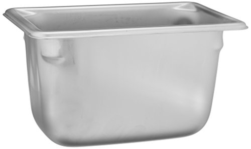 """Vollrath (30942) 4"""" Deep Super Pan V Stainless Steel Ninth-Size Steam Table Pan"""