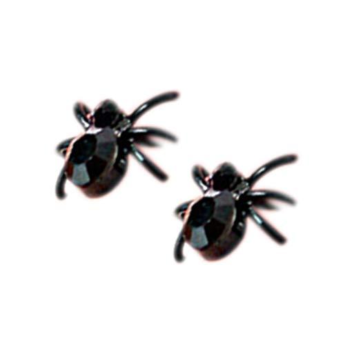 Guangcailun Poco Pendientes de araña Negro Lindo del Perno Prisionero del oído Regalos de la joyería de la Personalidad 3D únicas Mujeres de Las Muchachas 3D