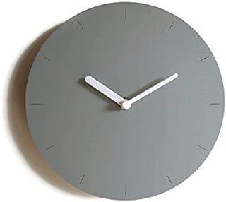 28cm Piccolo orologio da parete in legno tondo silenzioso per sala colorato come grigio sasso Particolari orologi a muro a...