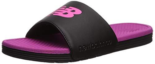 New Balance Women's NB Pro Slide Sandal, black/pink, 7 B US