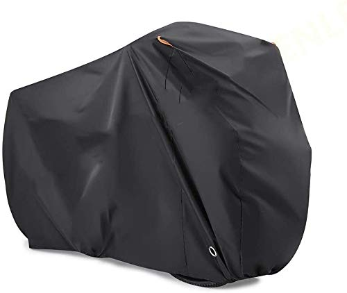 ZWXDMY Comfortable Bicycle Cover 210T Polyester Taffeta Material Bike Cover for Mountain Bike, Road Bike Rain Cover Waterproof Anti-UV (Size : X-Large)