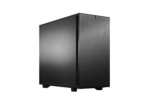 Fractal Design Define 7 Black Brushed Aluminum/Steel E-ATX Silent Modular Mid Tower Computer Case, Black Solid (FD-C-DEF7A-01)