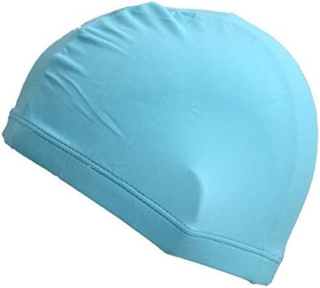 Ucocoon Superior Polyester Cloth Fabric Swimming Cap High Elasticity Swimming Cap for Long Hair product image