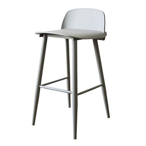 MJK Silla de la barra, silla del ocio minimalista estilo simple de metal Sillas de comedor asiento Barra de hierro Silla Taburete alto para silla de metal del café del restaurante bar o sala de estar