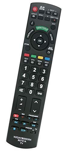 ALLIMITY N2QAYB000354 Fernbedienung Ersetzen für Panasonic Viera LCD TV TX-LF32G10 TX-P42G10E TX-P42GW10 TX-L37GW10 TX-P50G10E TX-P50G10L TX-L37GF12 TX-P46GW10 TX-L32G10E TX-L37G10E