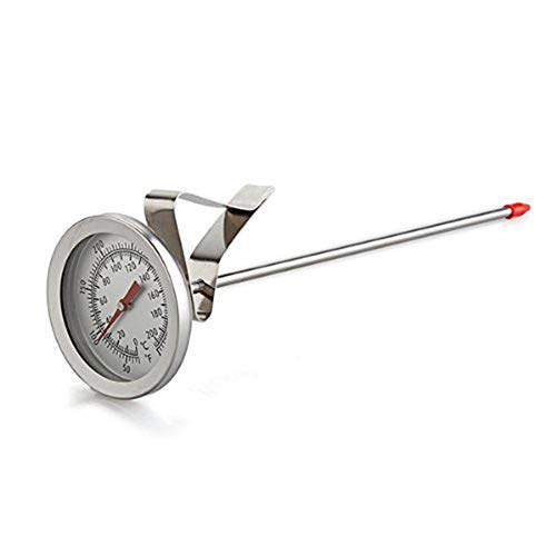 ALLQT Bratenthermometer,Edelstahl Backofen Kochen Grill Backen Sonde Thermometer Manometer 200 Grad Celsius Für Öl Frittieren BBQ Grill Smoker Thermometer