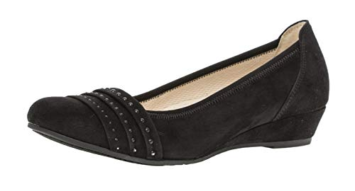Gabor 22.693 Damen Ballerinas,Frauen,Flats,Sommerschuh,modisch,Nieten,Comfort-Mehrweite,schwarz,6 UK