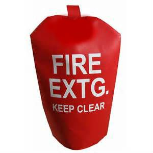(10 Pack) - FIRE EXTINGUISHER COVERS (NO Window) for 15 to 20lb. Extinguishers, Large 32