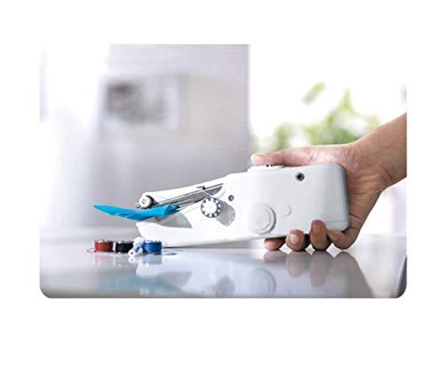 KPPTO Mini eléctrico de Escritorio del hogar pequeña máquina de Coser, Mini Electric, Multifuncional práctico Simple máquina de Coser (Color : White)
