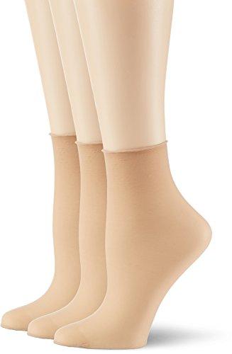 Hudson Damen Simply 20 3er-Pack Socken, 15 DEN, Beige (Teint 0010), (Herstellergröße: 39/42)