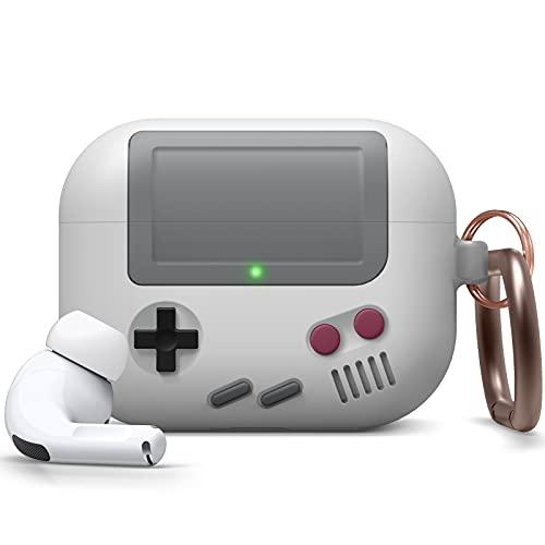 elago Funda AW5 Diseño Clásico Game Player Compatible con AirPods Pro Funda [Pendiente Patente US] (Gris Claro)