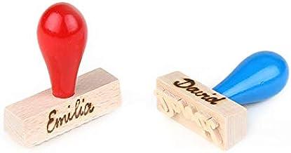 Brink Holzspielzeug Stempel Kinderstempel Namenstempel Holz Holzstempel Vornamen Name Farbe personalisiert neu