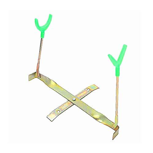 xldiannaojyb Tenedor de la caña de Pescar Cabeza de Doble Cabeza Pesca de la Pesca con Hielo Pesca de Invierno Pole Plegable Poste de Apoyo Soporte de Soporte Equipo de Pesca (Color : Green)
