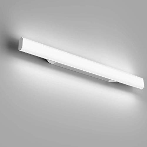 OOWOLF 12W 1200LM 6000K Lámpara LED de Pared, 44cm Lámpara de Espejo Aplique de Baño LED Luz Natural para Espejo Muebles de Maquillaje Aparato Montado en la Pared