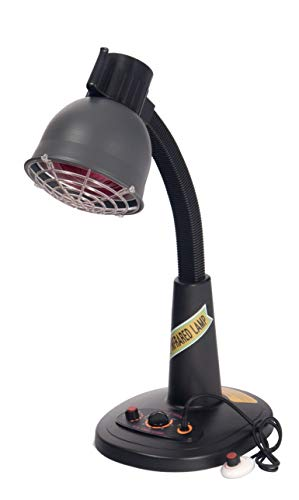 Infrared Heat Lamp Desk Model(Heat Therapy & Light Therapy) 110 V. including Bulb + 6mo. Warranty,