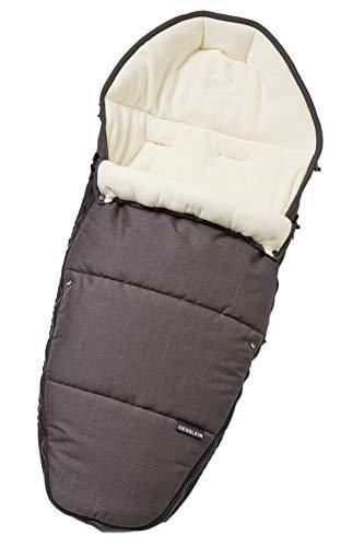 Gesslein Fußsack 716706000 Sleepy/Winterfußsack für Kinderwagen, Sportwagen, Buggy, Babywanne oder Schlitten, grau