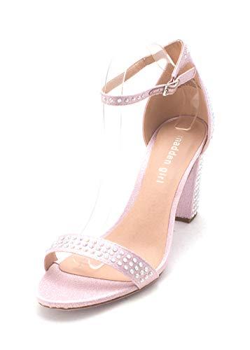Price comparison product image Madden Girl Womens Beella-1 Fabric Open Toe Special Occasion,  Lavender,  Size 6.0