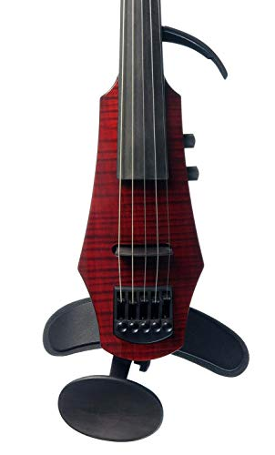 NS Design WAV-5 Electric 5-String Transparent Red Violin with Hard Case